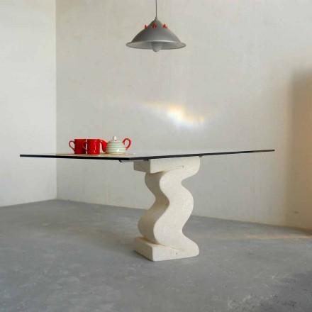 sten spisebord og moderne design krystal Anteros