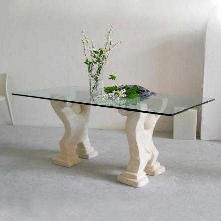Stone spisebord og moderne design krystal Medusa