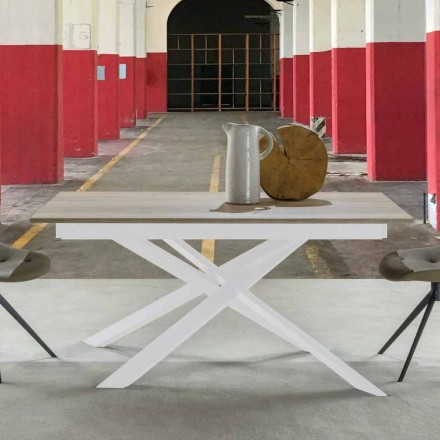 Moderne udtrækkeligt spisebord, lamineret top - Marliana
