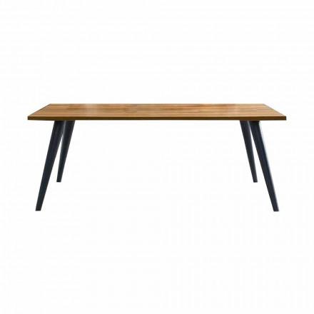 Moderne spisebord med træplade og bund fremstillet i Italien - Motta
