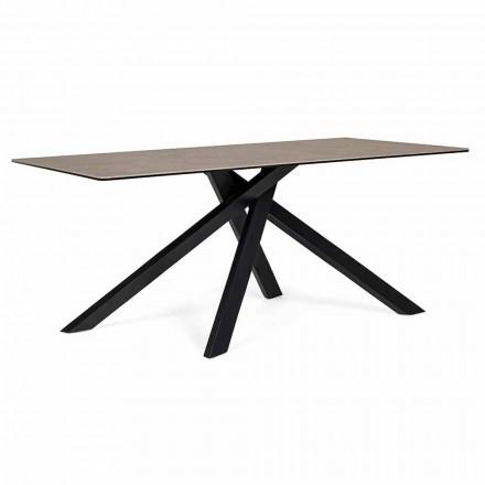 Moderne spisebord med keramisk og glasplade Homemotion - Ringo