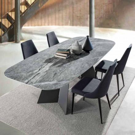 Moderne spisebord, top i porcelænsstentøj - Meduno