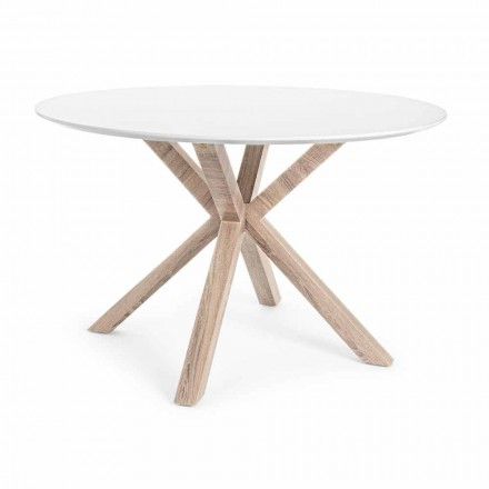 Moderne spisebord med rund top i hvid Mdf Homemotion - Vento