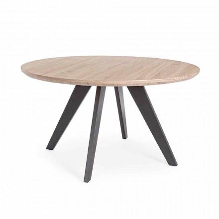 Moderne spisebord med rund top i Mdf Coated Homemotion - Varna