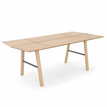Moderne spisebord i ask med sort eller guld detaljer - Andria