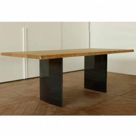 Moderne egetræbord lavet i Italien 200x100cm Paul