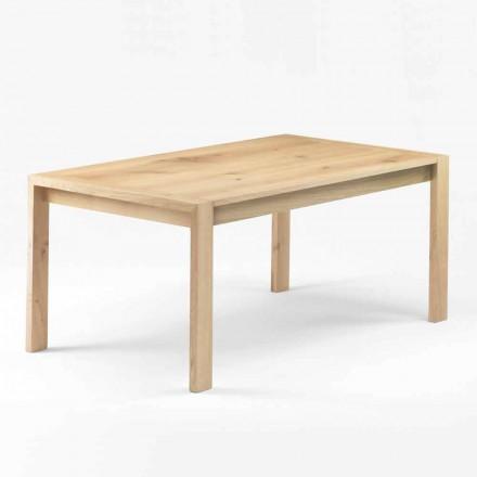 Moderne spisebord i massivt egetræ fremstillet i Italien - Pil