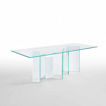 Moderne spisebord i ekstrem lys eller røget glas fremstillet i Italien - tilfældigt
