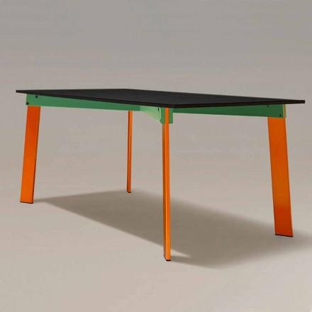 Moderne spisebord Træplade og stålbase Lavet i Italien - Aronte