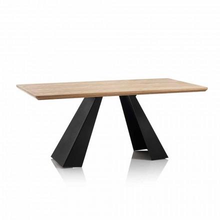 Moderne rektangulært spisebord med top i egfarvet MDF - Volo