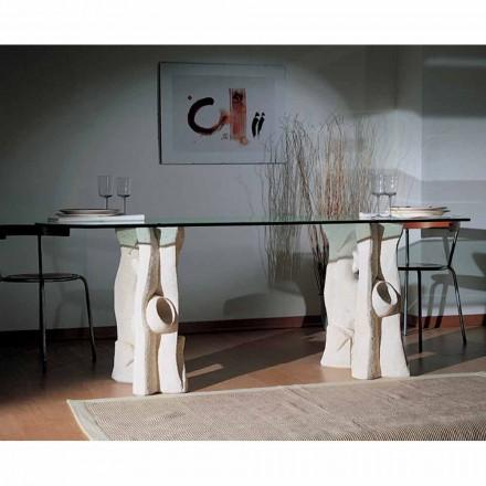 af sten spisebord og moderne design krystal Daiana