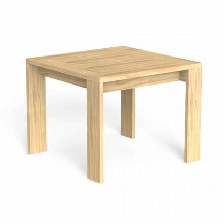 Firkantet design udendørs spisebord i ædelt træ - Argo af Talenti