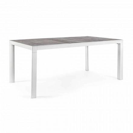 Udendørs spisebord med keramisk top og aluminiumsbase - Jen