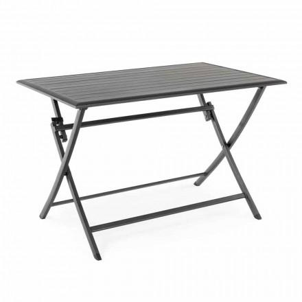 Udendørs spisebord i aluminium med foldestruktur - jagt