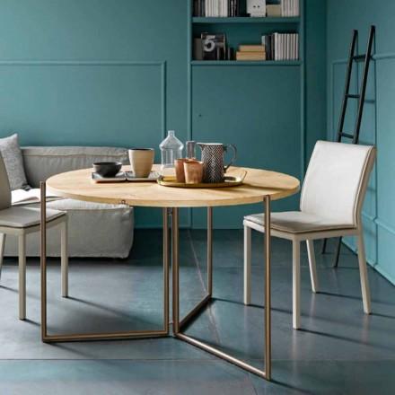 Moderne foldbart spisebord i træ og metal fremstillet i Italien - Menelao
