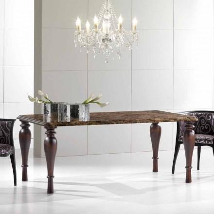 Rektangulært spisebord i Emperador Dark Marble fremstillet i Italien - Nicolas
