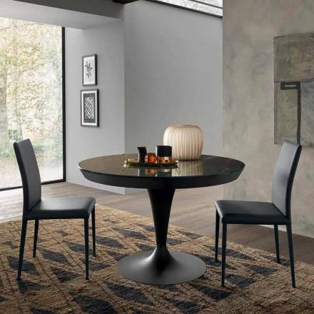 Rundt udtrækkeligt spisebord i laminam keramik fremstillet i Italien - Lupetto