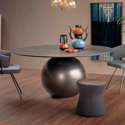 Rundt spisebord med metalbase fremstillet i Italien - Bonaldo Circus