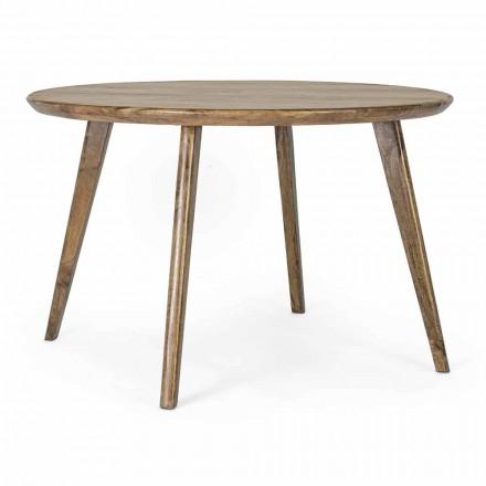 Homemotion rundt spisebord med mangotræplade - Rondolo