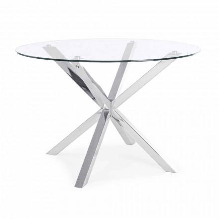 Homemotion rundt spisebord med hærdet glasplade - Denda