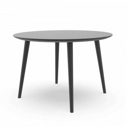 Runde have spisebord i hvid aluminium eller trækul - Sofy Talenti