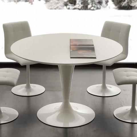 Fantastisk Runde bord med moderne design Topeka, hvid farve BK43