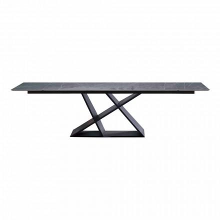 Luksusforlængeligt bord op til 294 cm med top af stentøj Lavet i Italien - Cirio