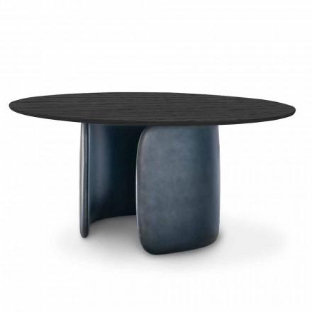 Designbord med rund top i massivt træ Made in Italy - Mellow Bonaldo