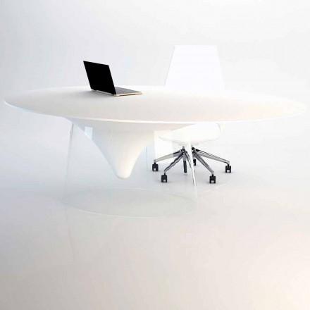 Design bord med krystal base lavet i Italien, Teggiano