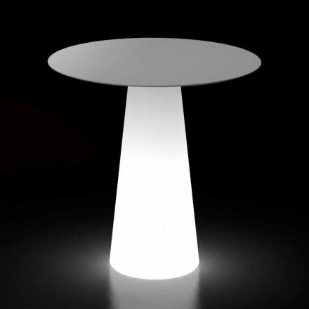 Udendørs lysbord med LED-lysbase og rund top fremstillet i Italien - Forlina