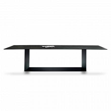 Designbord i Matt Noir Desir Keramik og metal fremstillet i Italien - mørkebrunt