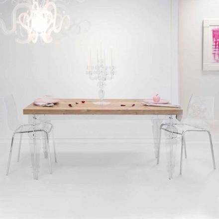 Design bord lavet af gran træ og plexiglas lavet i Italien, Castro