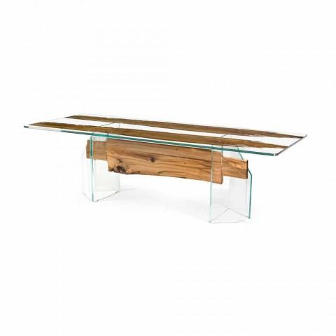 af delfin Designer træbord og Venedig venetianske glas