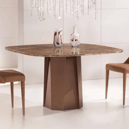 Designbord i Emperador Dark Marble 130x130 cm, lavet i Italien - Nuvolento