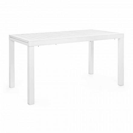 Udvideligt havebord Op til 240 cm i hvidt eller skildpadde aluminium - Franz