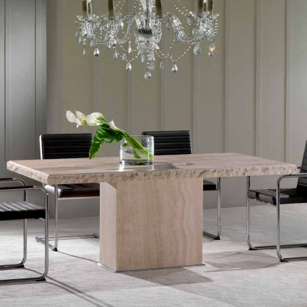 Spisebord lavet af travertinsten, moderne design, Narciso