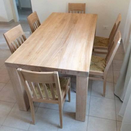 Klassisk design massivt aske træ bord lavet i Italien - Nicea