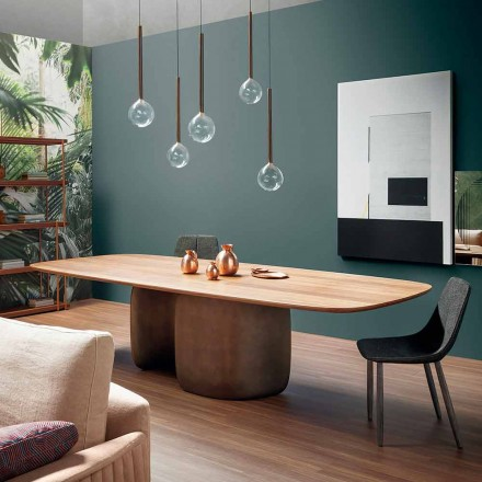 Moderne massivt træbord fremstillet i Italien - Bonaldo Mellow