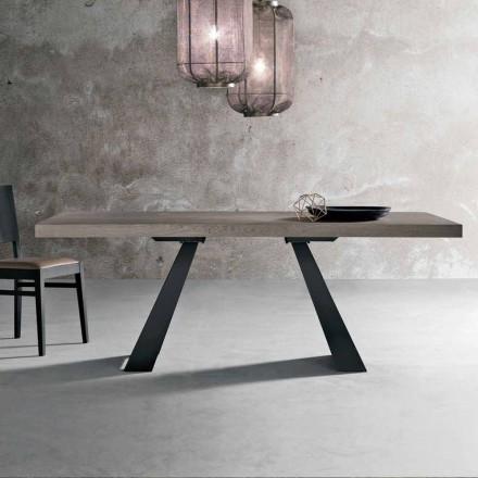 Moderne knust egetræbord produceret i Italien Zerba