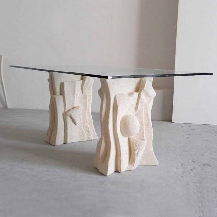 sten bord med moderne design krystal Priamos