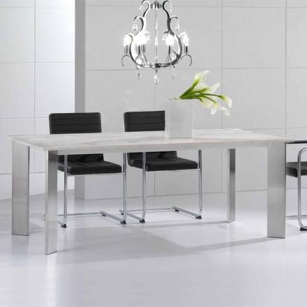 Spisebord lavet af travertinsten, moderne design, Pompilio
