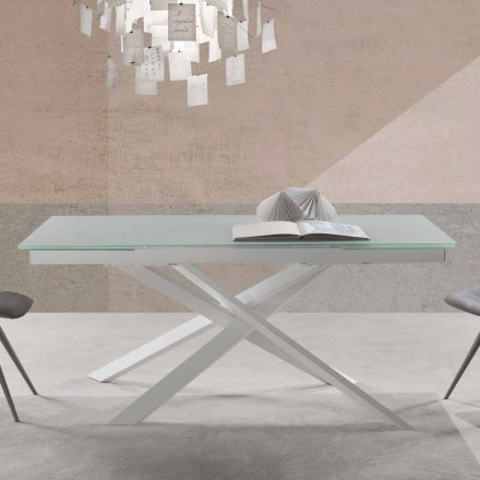 Moderne design udvideligt bord i glas - Marliana