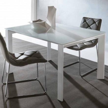 Udvidet spisebord Phoenix, lavet af hærdet glas