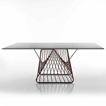 Moderne designbord i hærdet glas lavet i Italien, Mitia