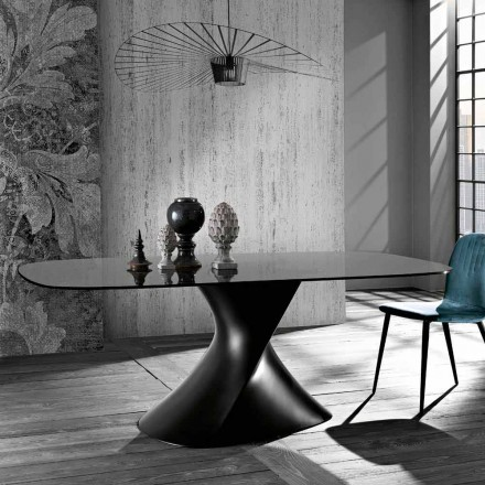 Moderne designbord i hærdet glas lavet i Italien, Clark