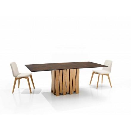 Moderne designbord i glas-keramik lavet i Italien, Egisto