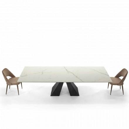 Moderne udvides bord op til 300 cm i marmor fremstillet i Italien - Dalmata