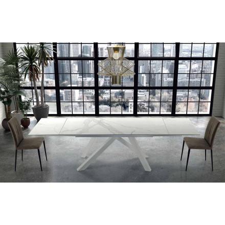 Moderne udvides bord op til 300 cm i marmor fremstillet i Italien - Settimmio