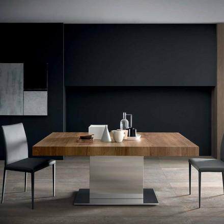 Moderne udtrækkeligt bord op til 480 cm i træ fremstillet i Italien - Michael