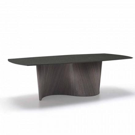 Moderne bord med marmor effekt stentøj top lavet i Italien, Adrano